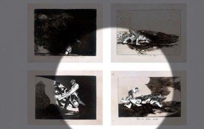La artista Farideh Lashai en el Museo del Prado